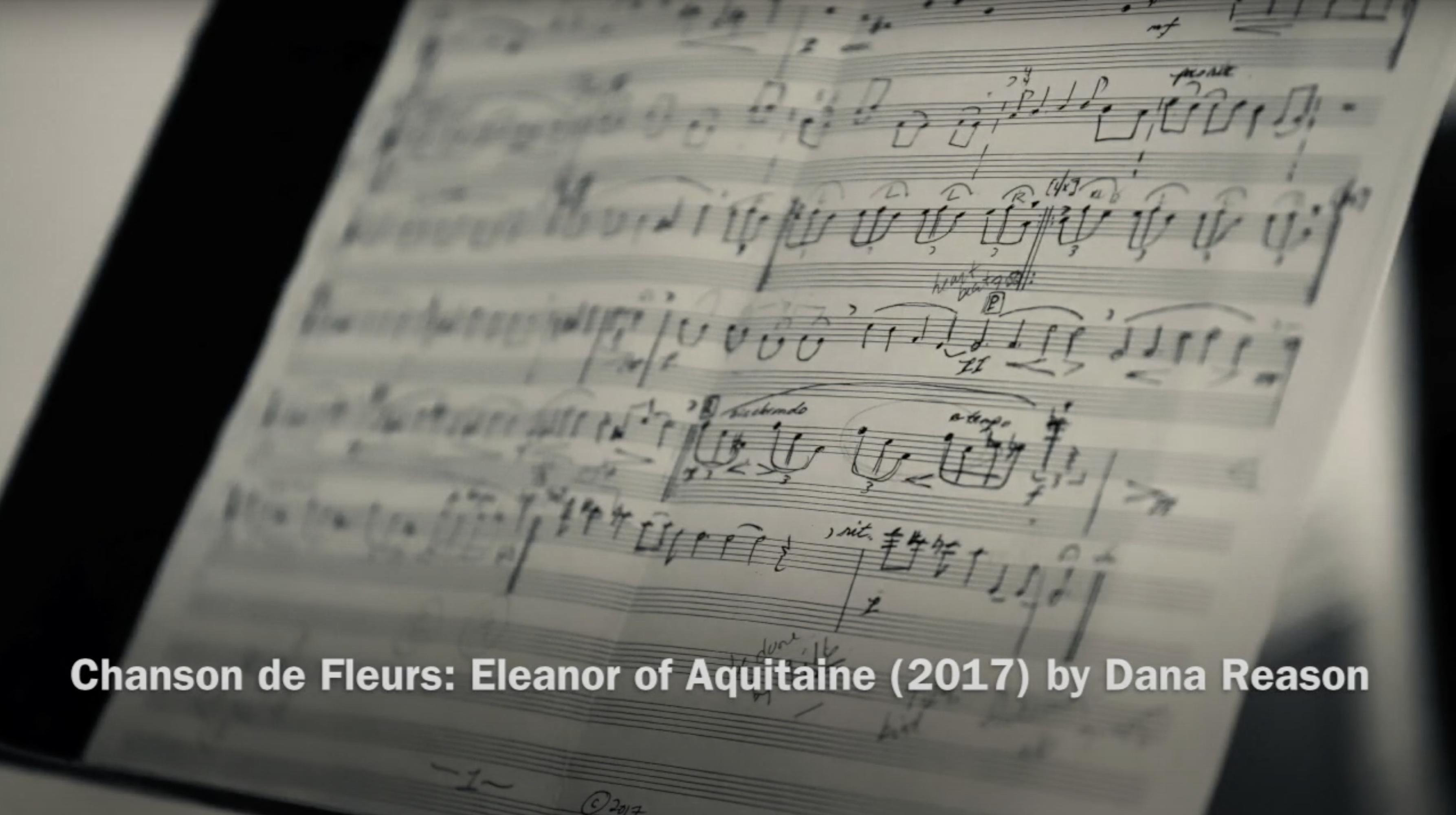 Chanson de Fleurs: Eleanor of Aquitaine (2017) for oboe and soundscape by Dana Reason